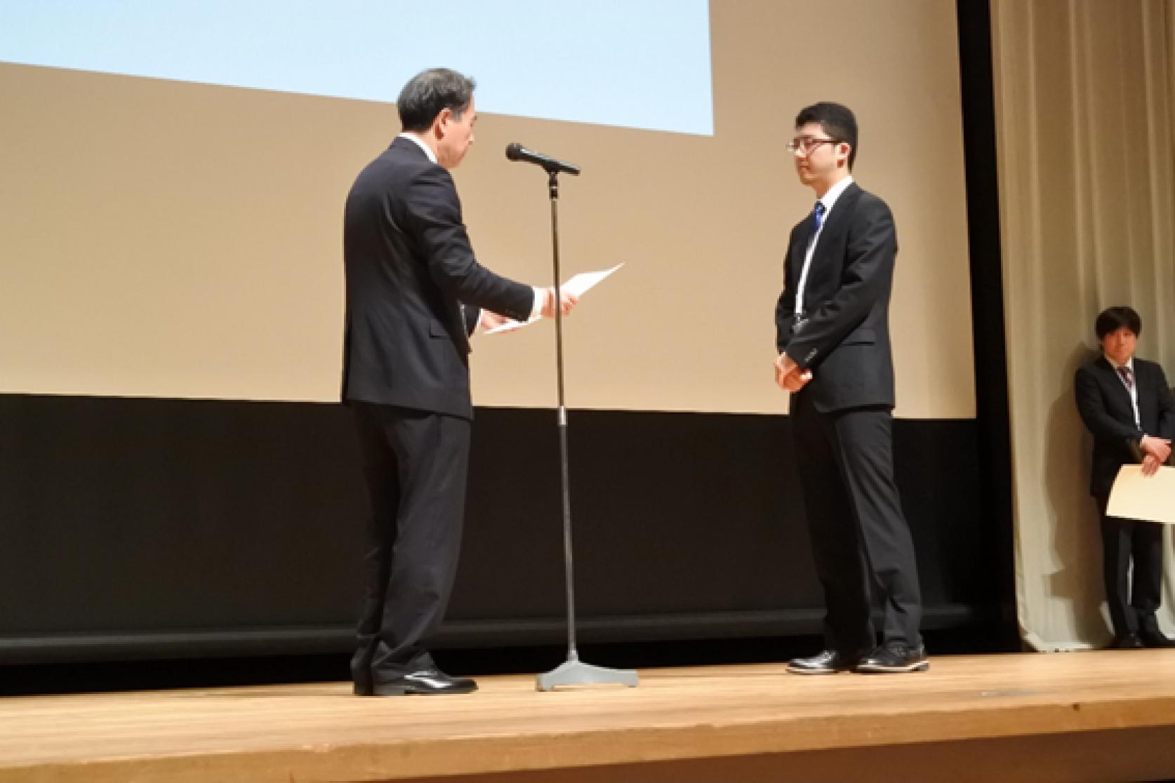 精密機械工学専攻の学生及び教員が「電気学会 センサ・マイクロマシン部門総合研究会」にて、優秀論文発表賞を受賞しました。