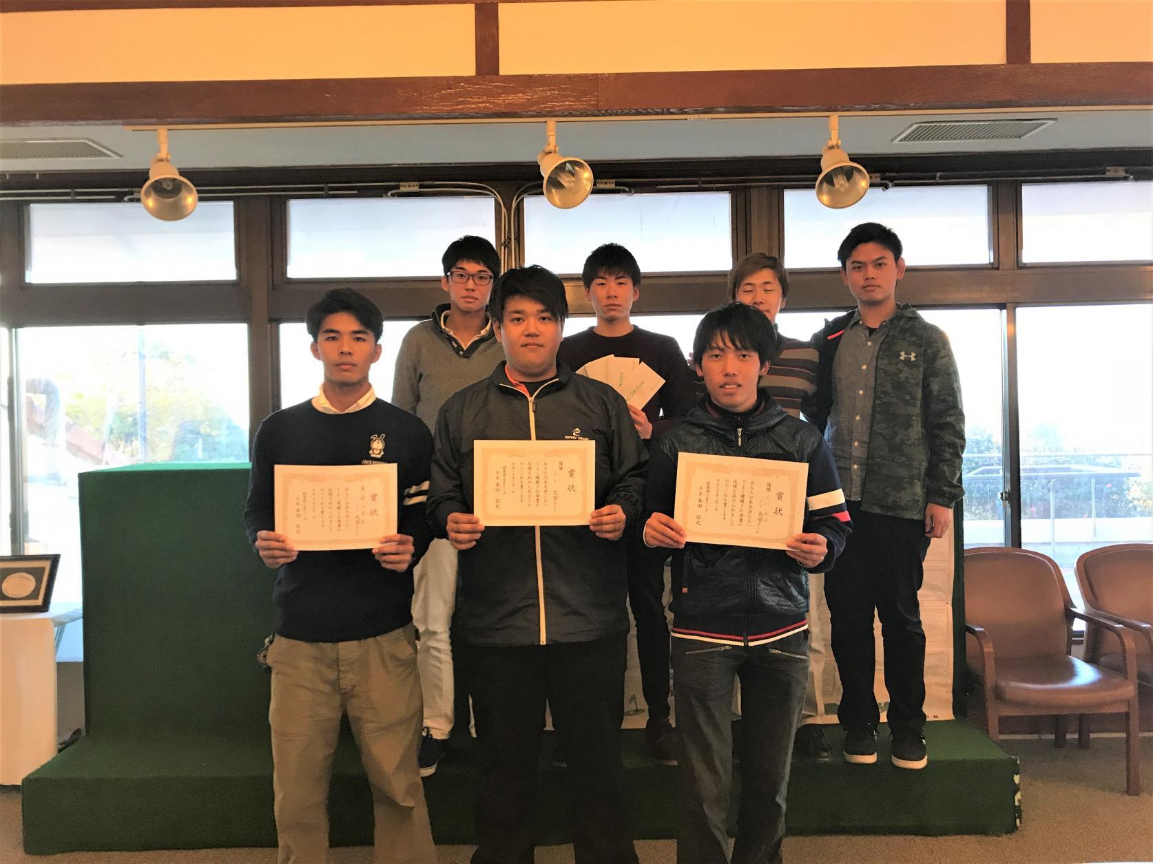 ゴルフ部:個人・総合3大会連続アベック優勝!