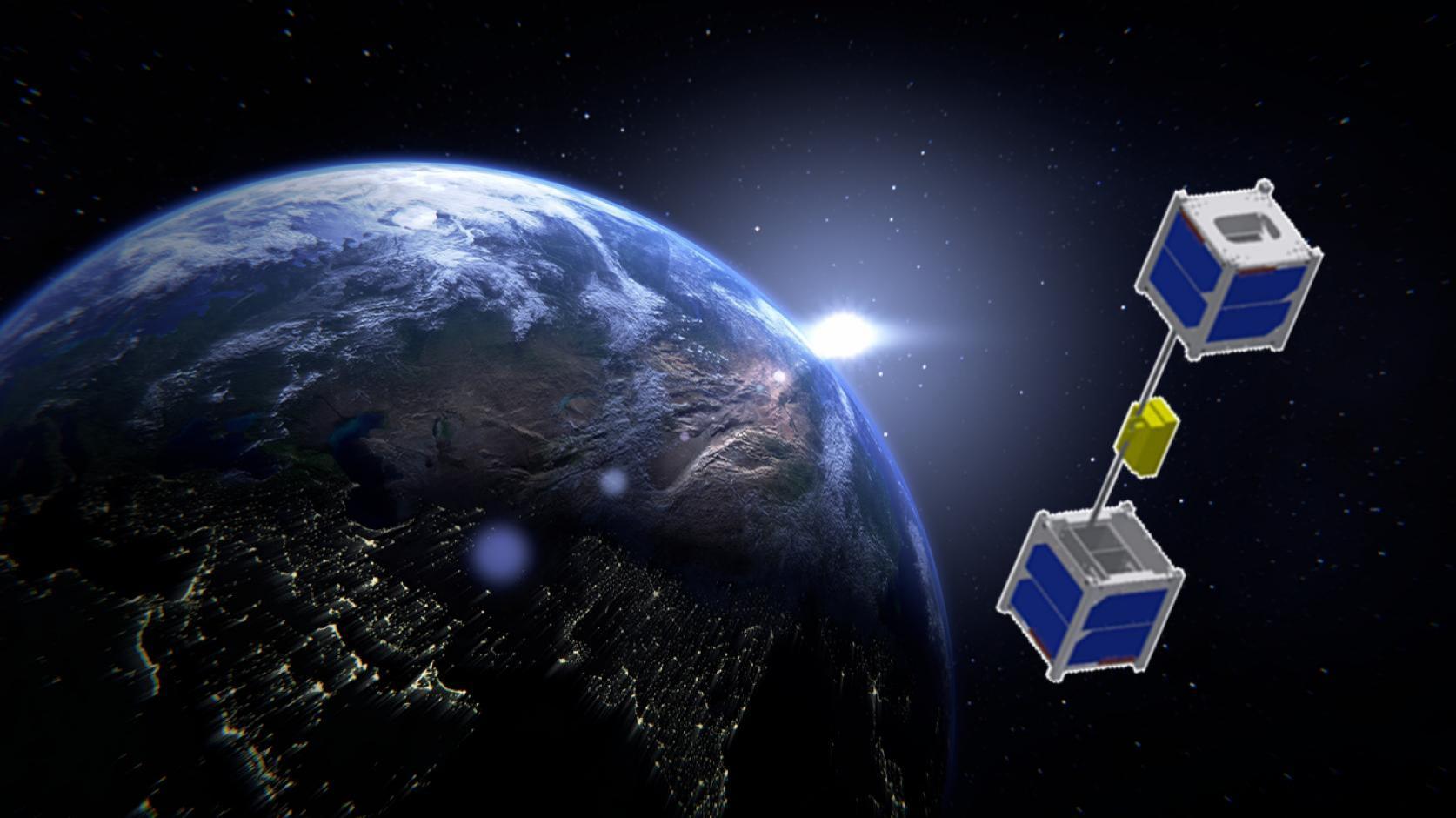 世界初!<br>宇宙エレベーター宇宙での実証実験<br>精密機械工学科 青木研究室の昇降機 9月23日  種子島宇宙センターからHⅡBロケット7号機で打ち上げへ!!