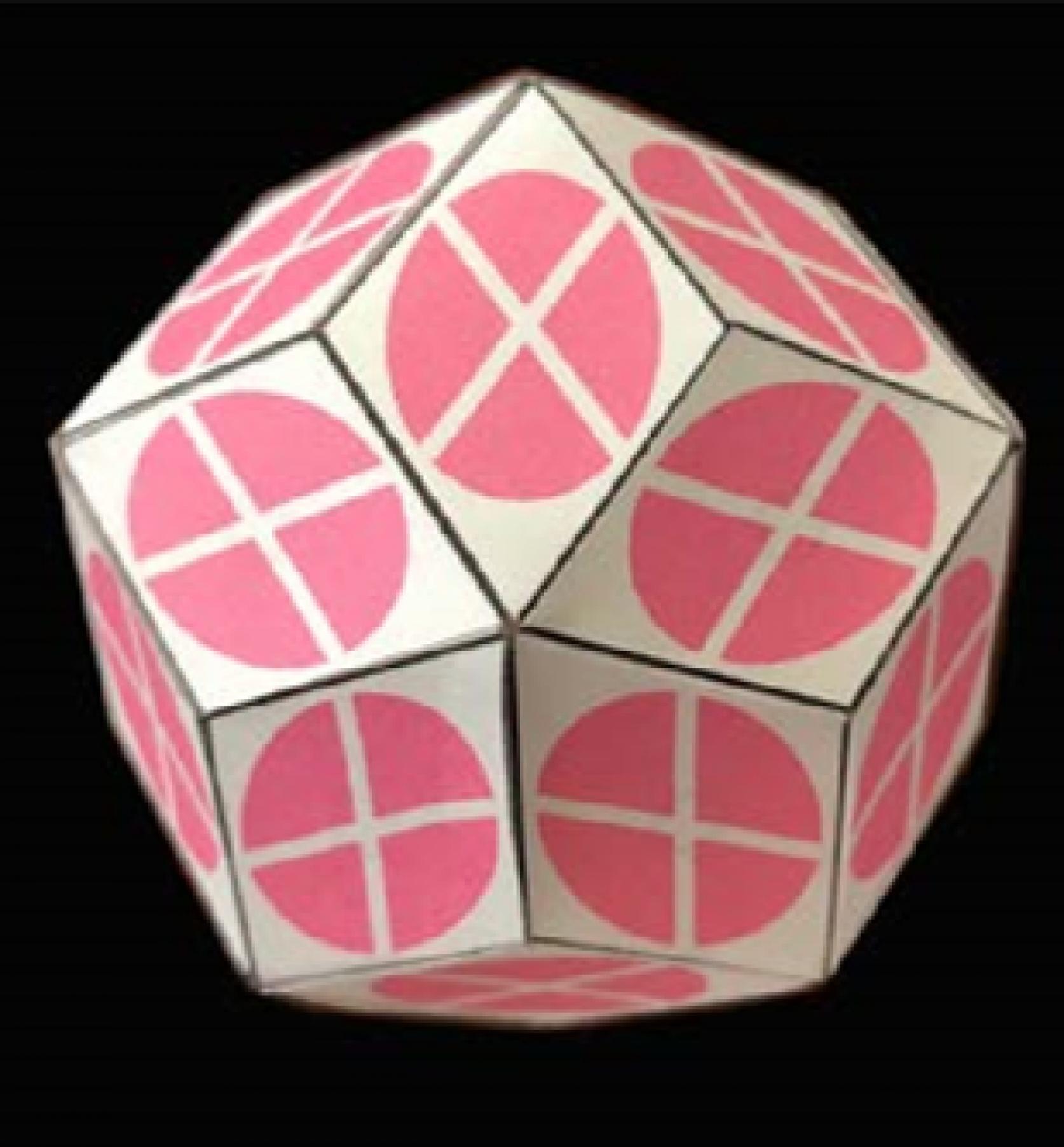 【100周年記念ロゴによる工作】編み込みによる菱形30面体の作り方