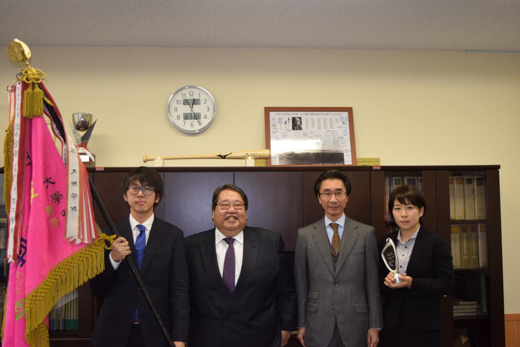 日本大学体育大会で理工学部が2年連続で男子総合優勝・女子総合第2位となりました。